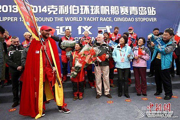 """中国,青岛 克利伯环球帆船赛中国""""青岛号""""回家"""