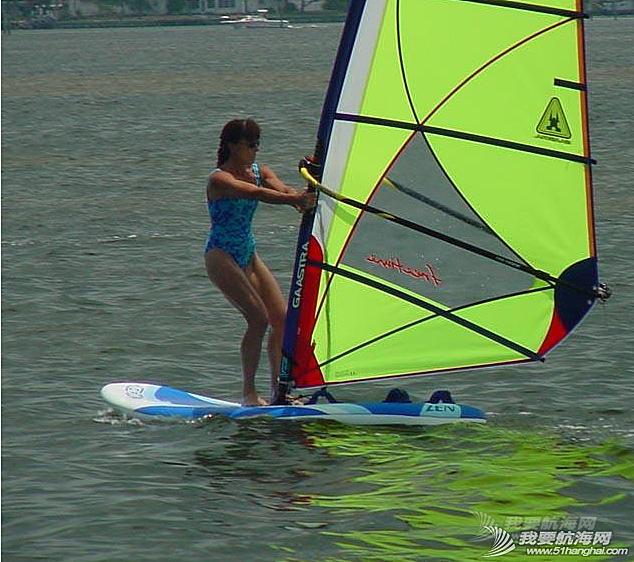 帆板,180度调头 让帆在不受风的情况下原地旋转180度调头的方式,是帆板初学者必须掌握的一项技术。