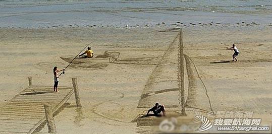 内蒙古,绘画,沙滩 神奇的3D沙滩绘画,Anyone else like to have a try?