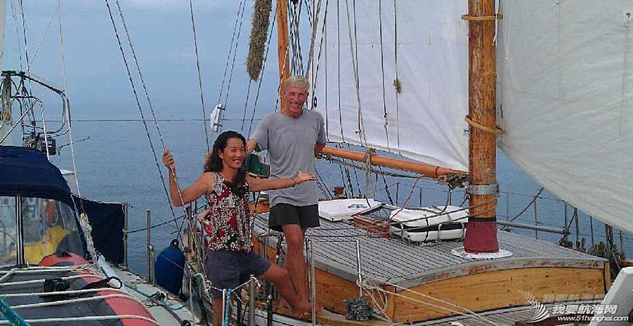 """太平洋,半路夫妻,因爱起航,帆船 万金玉和若赋船长的环球航海之旅—今秋即将起航的后半段—""""走婆家"""""""