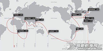 沃尔沃汽车,西班牙,阿布扎比,阿联酋,新西兰 2014-02-26  2014-15沃尔沃环球帆船赛简介