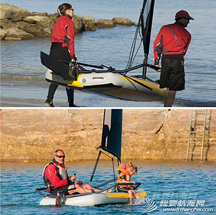 水上运动,爱好者,设计师,帆船,激情 折叠式充气帆船---让航海运动变得简单、充满乐趣,让爱好者体会到滑翔和速度的激情。