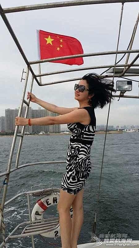 2014秦皇岛号帆船首航试帆,今天风和日丽,蓝天白云滴还不晒。