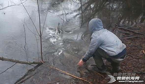 腾讯微博,新浪,YouTube,视频分享,录像机 男子冰冷湖水中救助受困小鸭