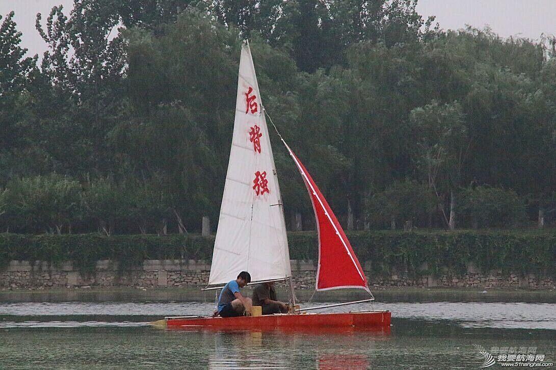 双体帆船,运河,金海,烟斗,后背墙 DIY帆船成为通州运河第一帆