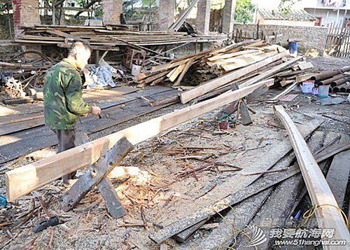 南台号,南台II号 8月22日:江村传统制帆田野调查,南台II号的底板、塞杆、走马也已完成。--南台二号