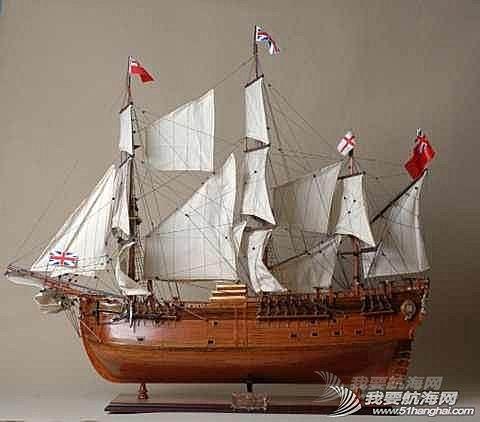帆船模型「航海」