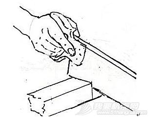 木工,长方形,切割,而且,耳朵 木船DIY要点3.6.2锯的使用---怎样用手锯切割直线以及拐角