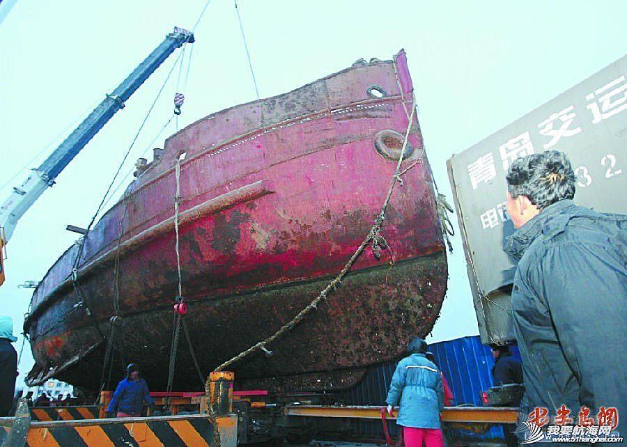 胶州湾,管理站,西海岸,中国,青岛 中国现存最古老大灯船重现原貌