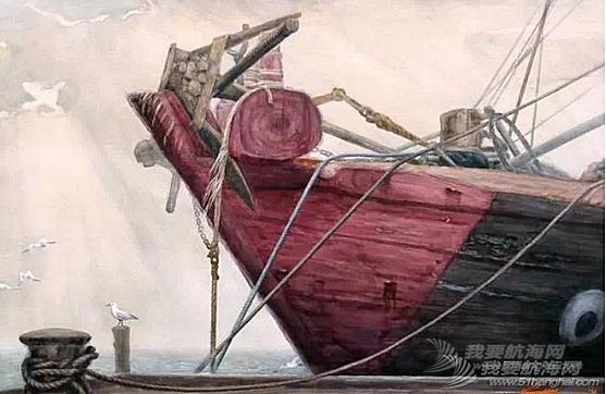 红头船---船头漆成红色,并且书上两颗圆圆的大眼睛。