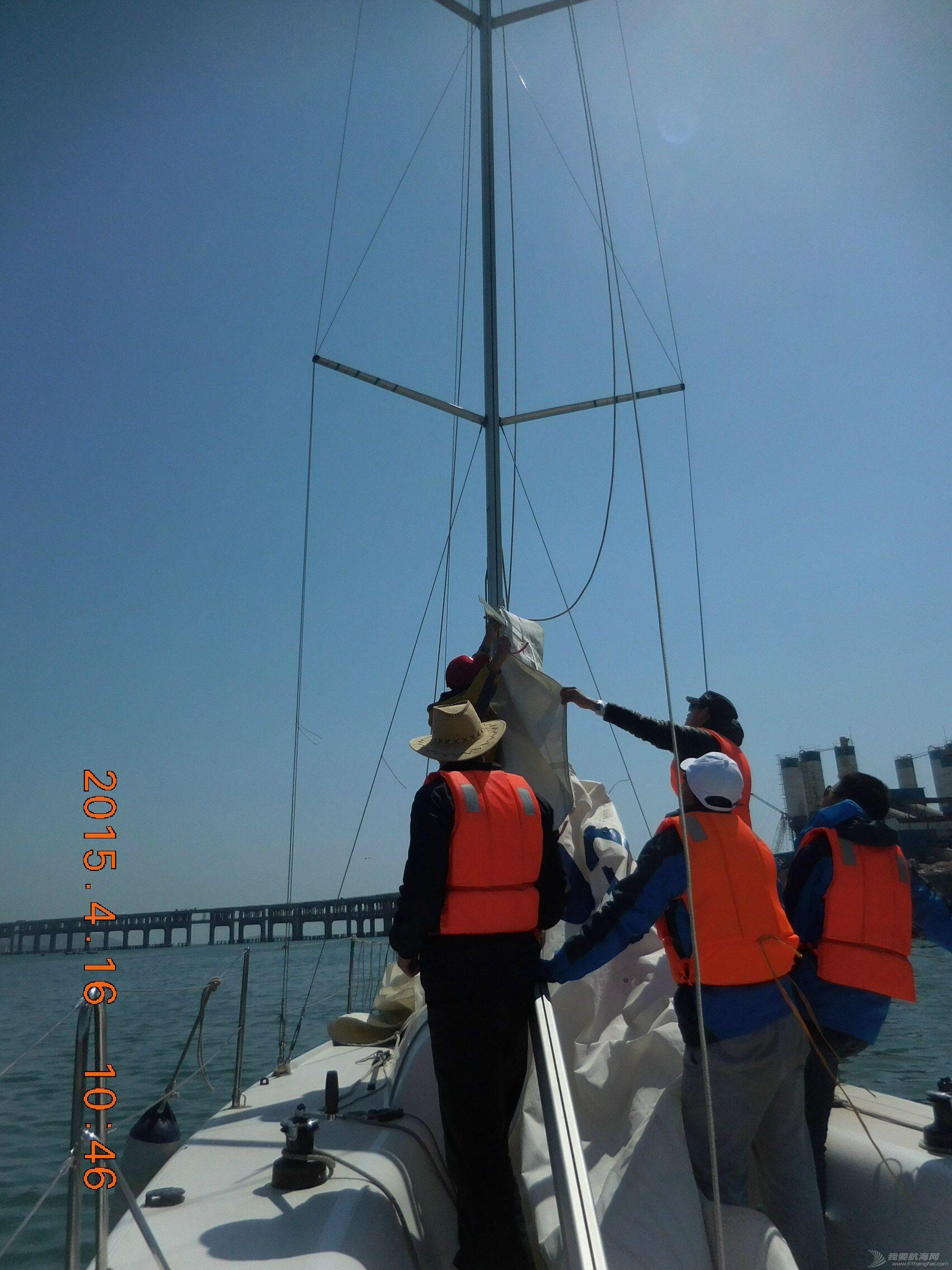 大连海事,大学,帆船 大连海事大学帆船队2015年第三次出海训练