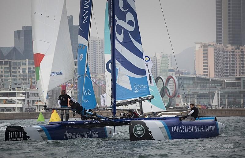 系列赛,青岛,阿曼,帆船,极限 青岛极限帆船系列赛  浪潮马斯喀特和阿曼航空队准备最后冲刺