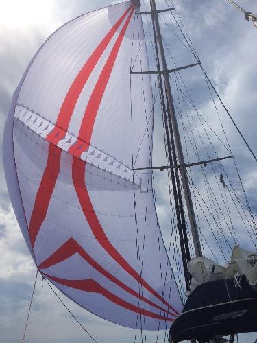 试航最新设计的新型球帆成功