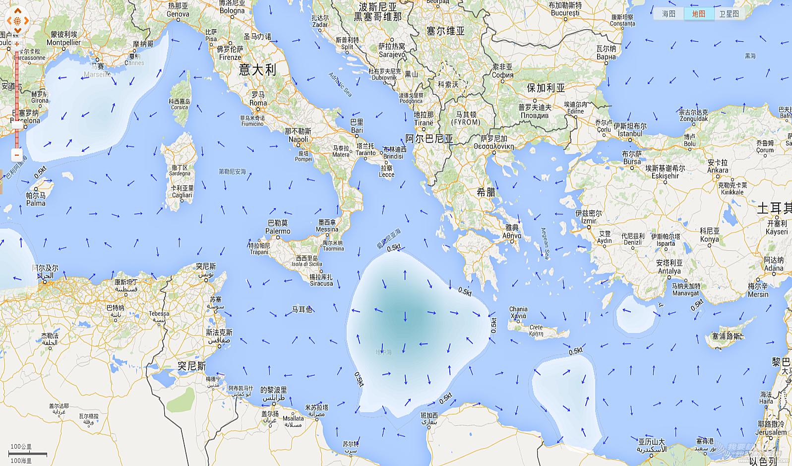 地中海水流问题