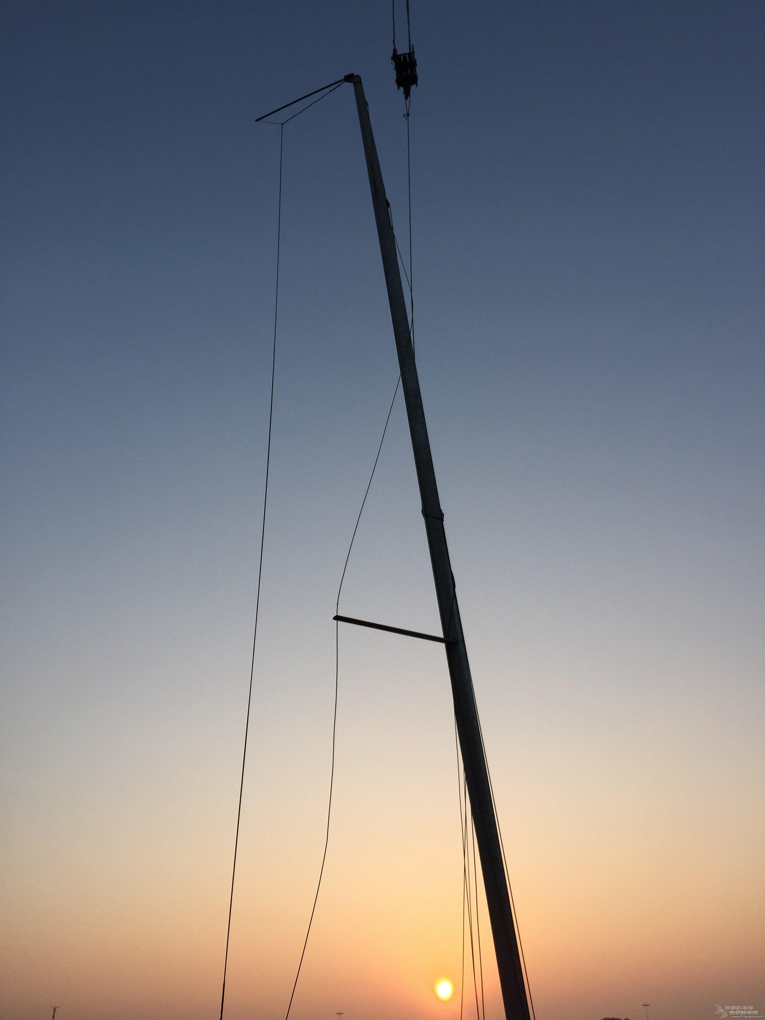 【公益航海志愿者日记@日照】Day29-记威海国际帆船赛第一天-拆完桅杆去参加比赛喽