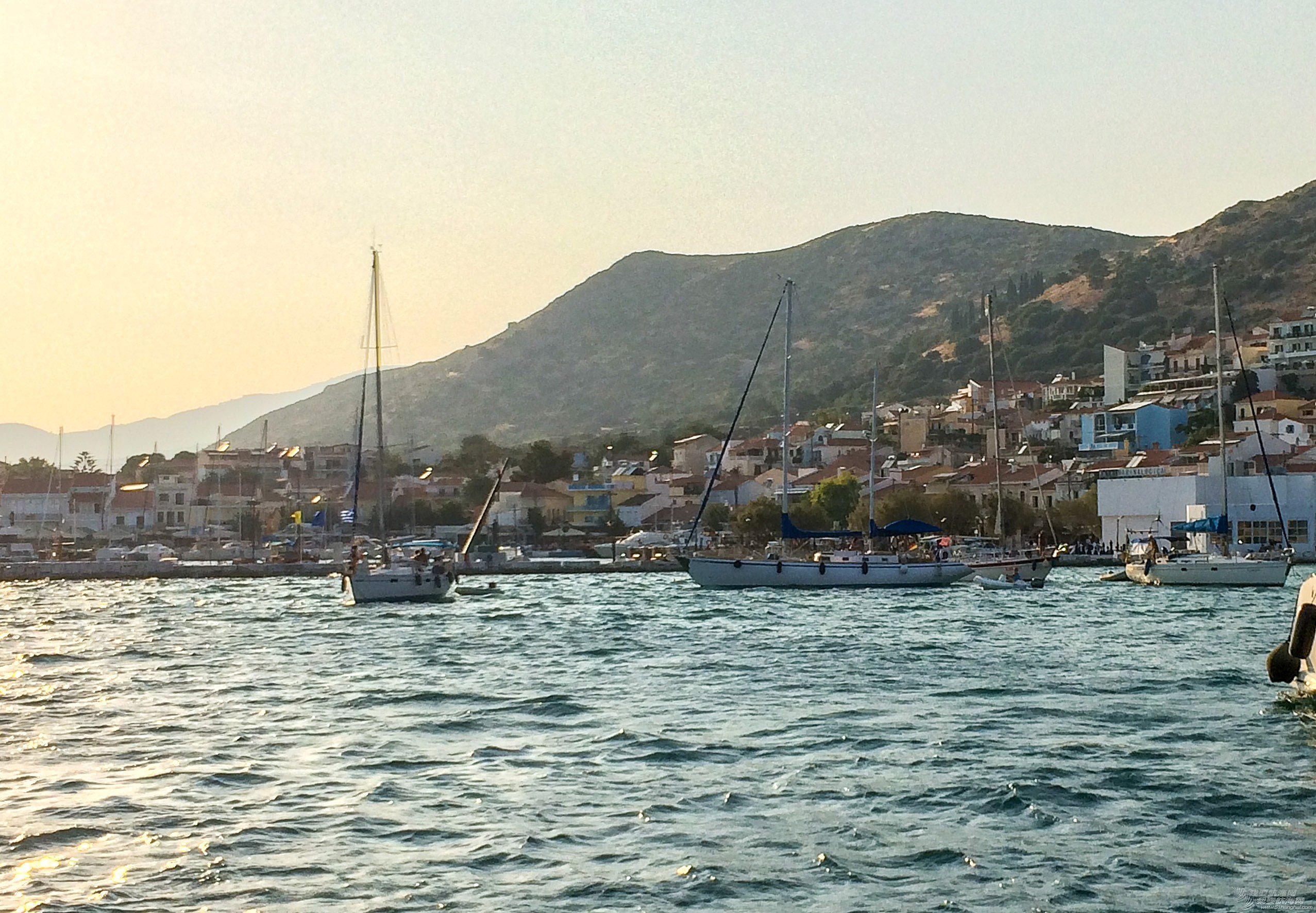 而且,希腊爱琴海,照相机,戏剧性,帆船 你经历过强风使所有的帆船拖锚吗?