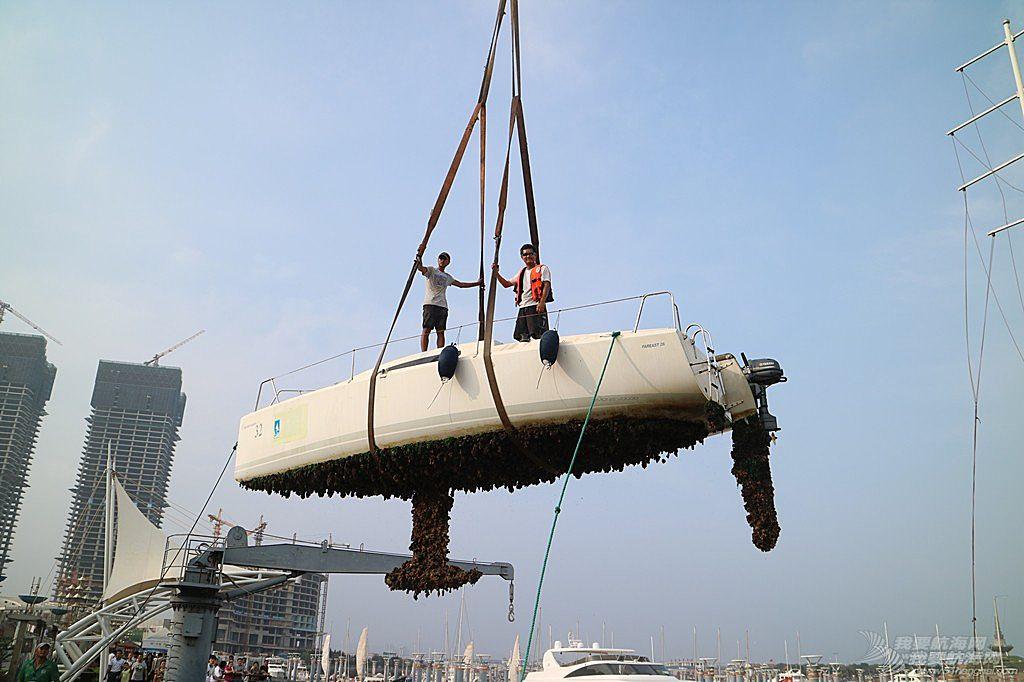 志愿者,天气,日记,日照 【公益航海志愿者日记@日照】Day35-新船下水好开心。两艘珐伊26完工下水。