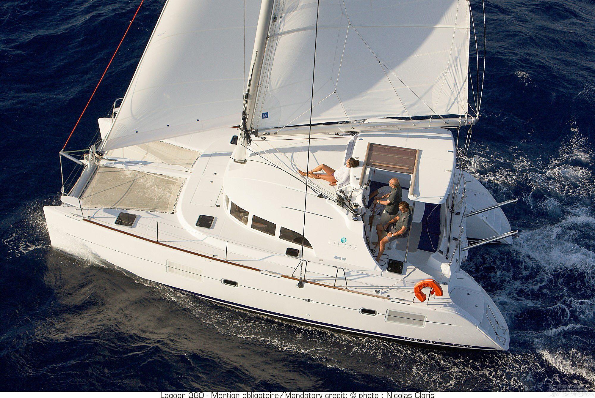帆船 lagoon 380 蓝高380双体帆船