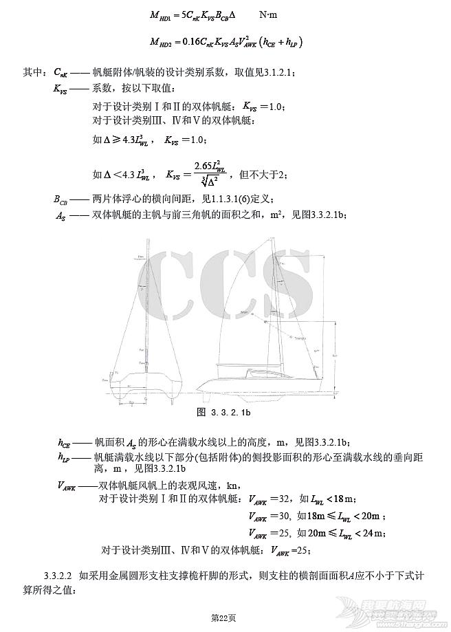 国内帆艇船检标准普及性解释系列讲座(十)