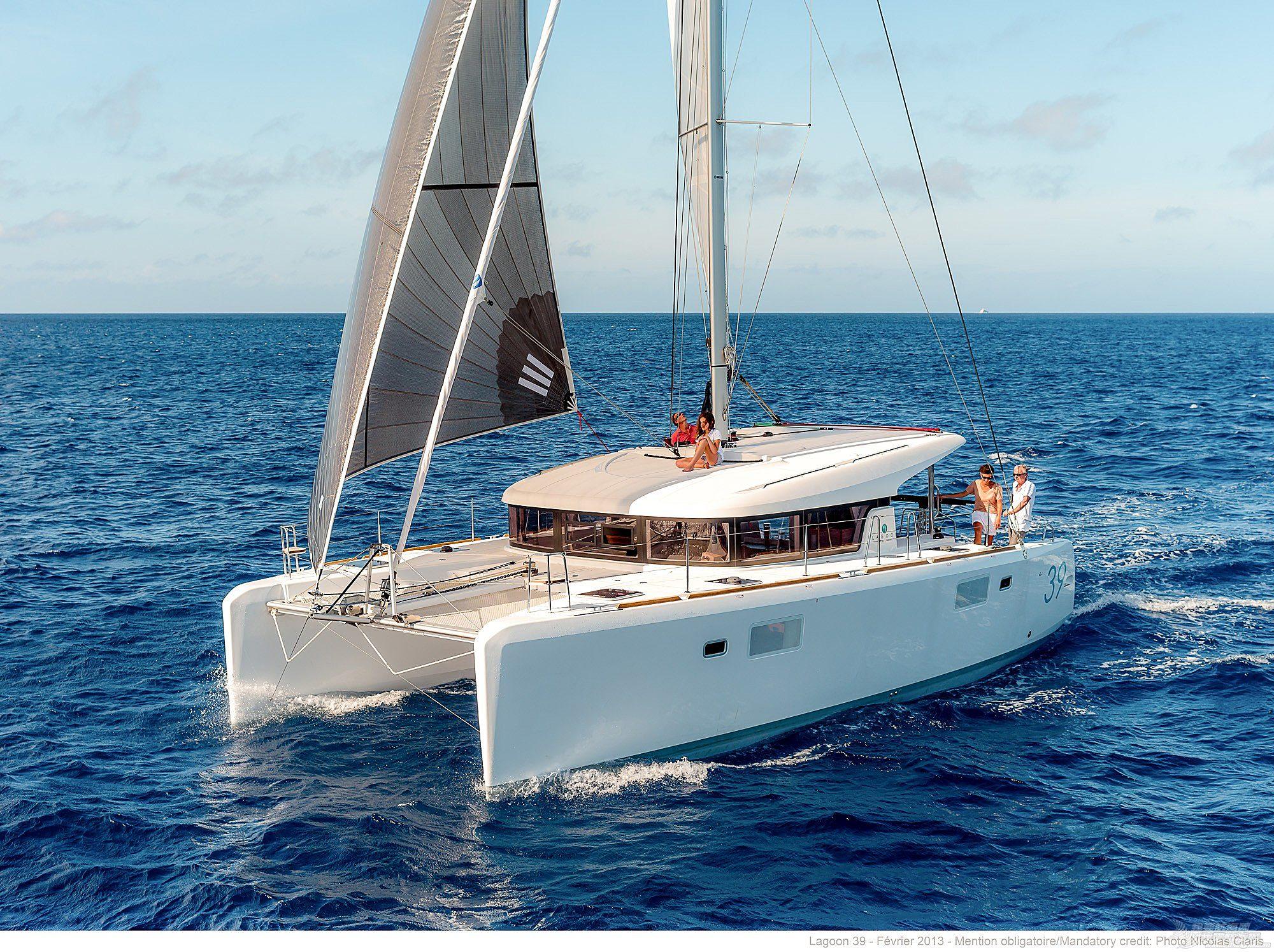 帆船 lagoon 39 蓝高39双体帆船