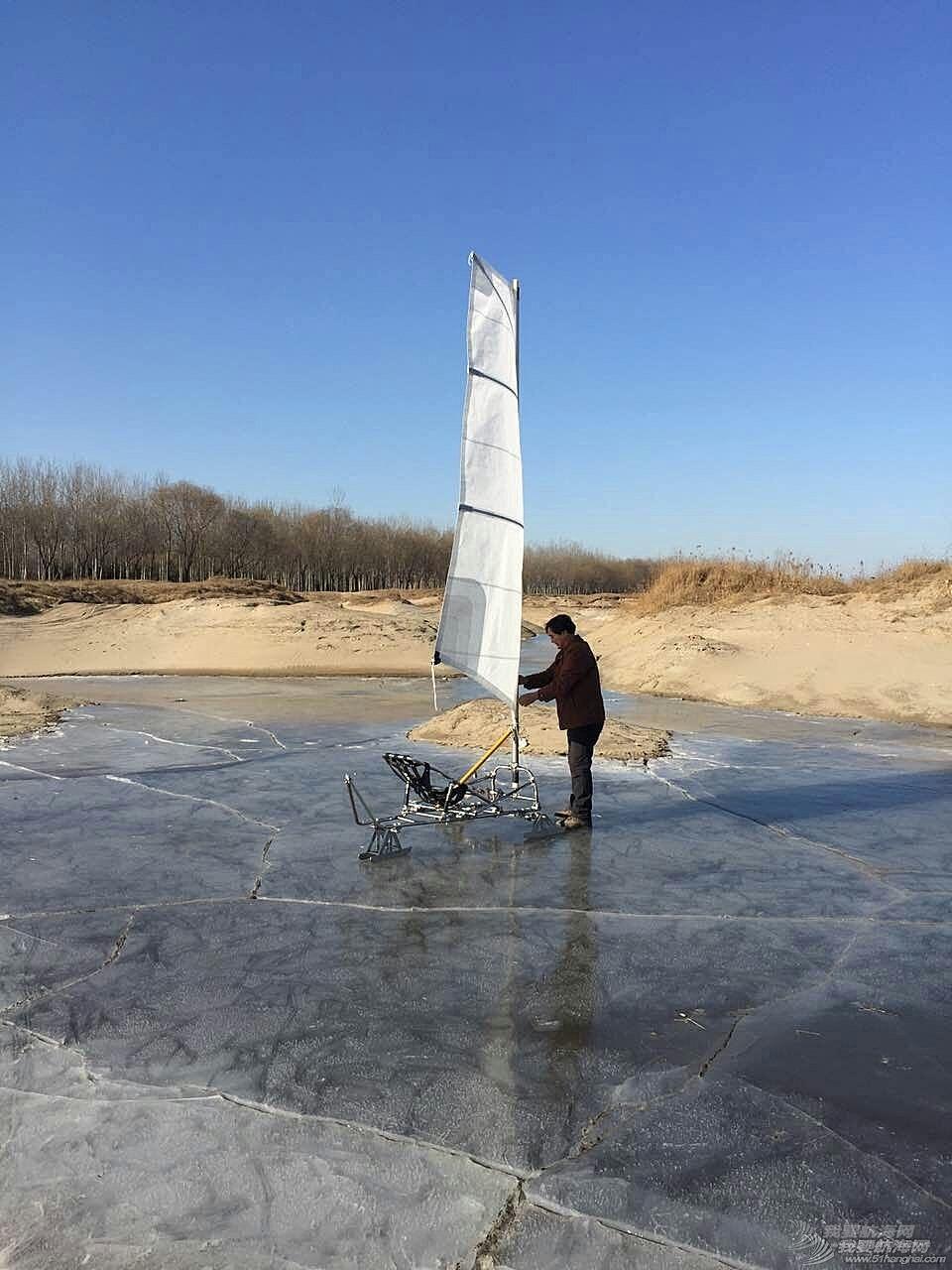 冰帆,烟斗冰帆,烟斗制作,帆车,帆船气象导航 【冰帆】-结冰的冬天也能玩帆?我的冰帆成功下冰试航