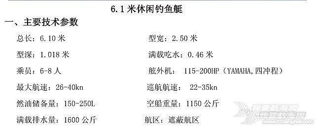 6.1米钓鱼艇