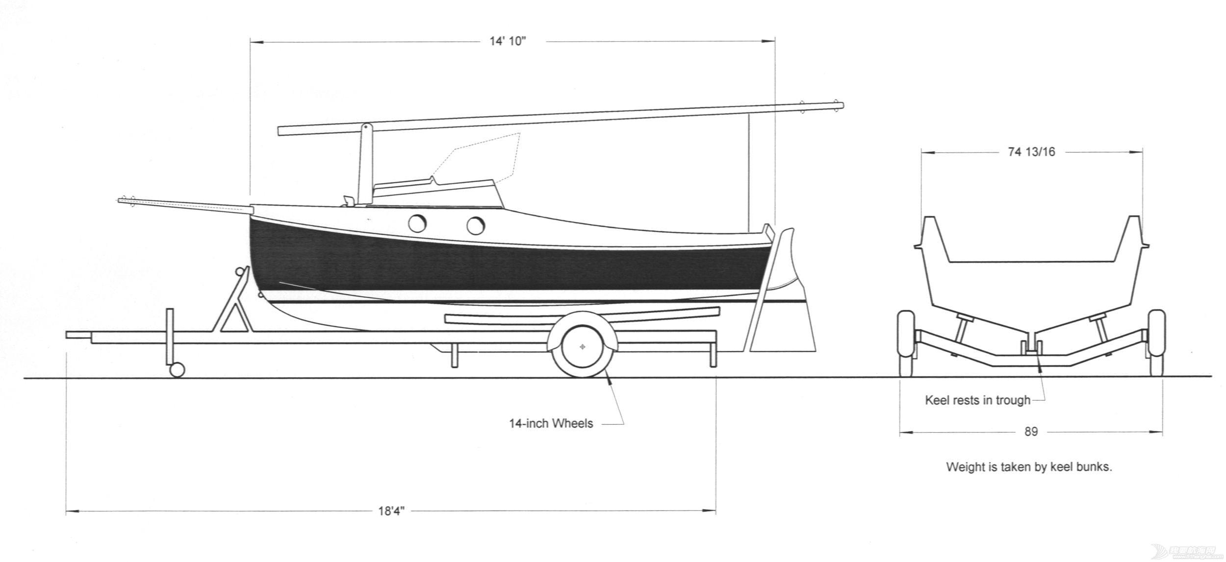 帆船 口袋帆船 尺寸 (英尺)