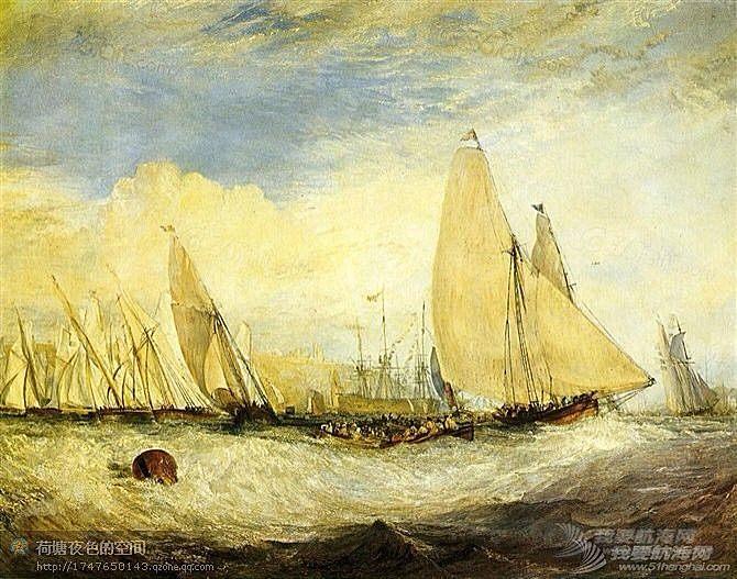 帆船,复古 几张复古的帆船油画