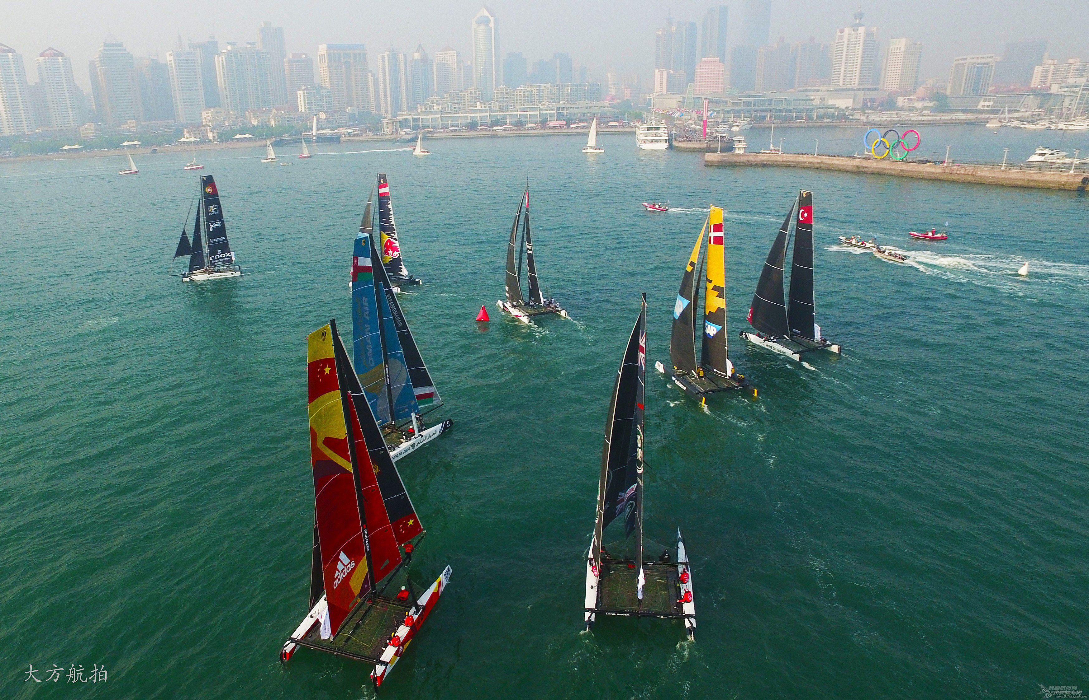 极限,摄影作品,系列赛,青岛,帆船 2016国际极限帆船系列赛青岛站--大方航拍