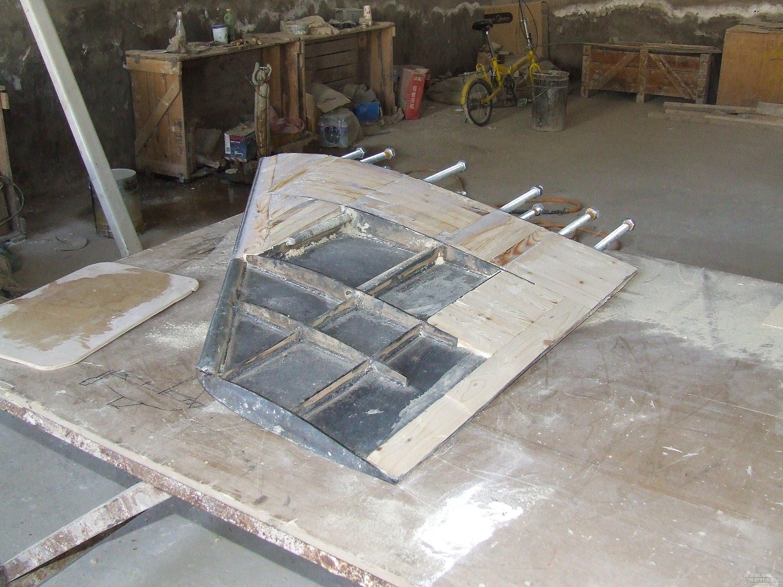 帆船,制作 GR-750帆船的龙骨制作