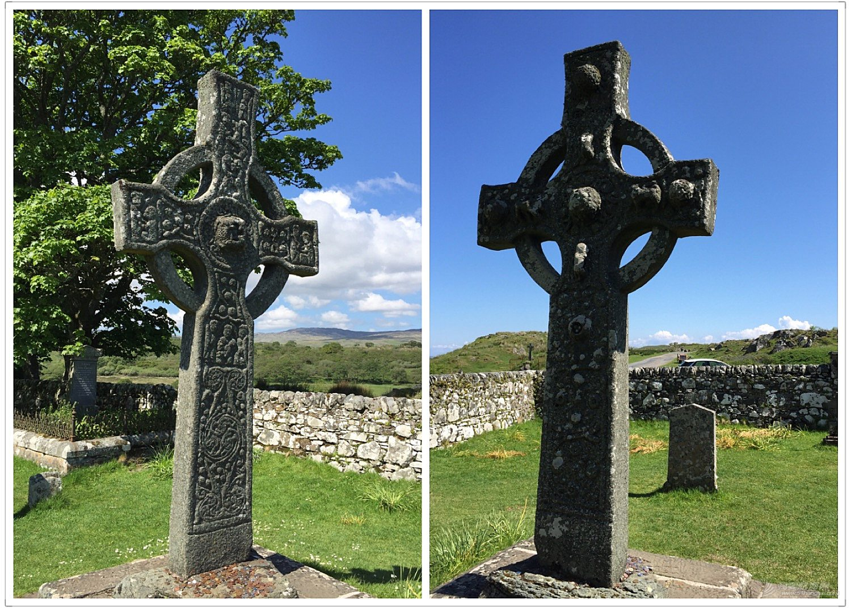 基督教,天主教,爱尔兰,苏格兰,都柏林 神灵修院圣徒建,精美石雕僧者为--《再济沧海》(54)