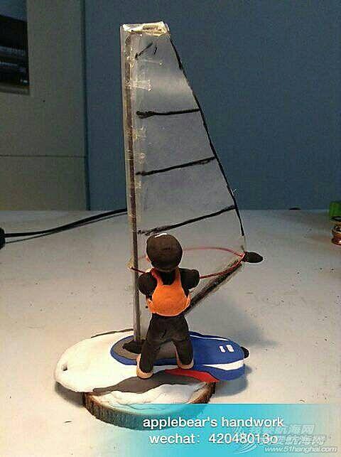 我做的Q版帆板娃娃,萌萌哒