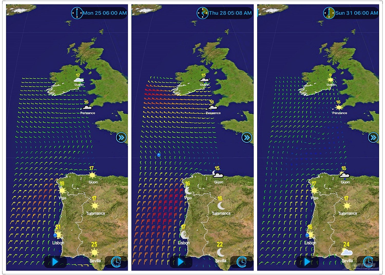 西班牙,北大西洋,葡萄牙,爱尔兰,北半球 六天气象窗巧算,千里葡萄牙直航--《再济沧海》(64)