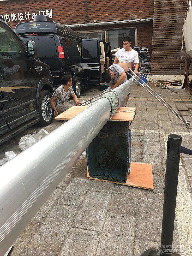 2016.8.23日  11米自制机帆船改装进度汇报