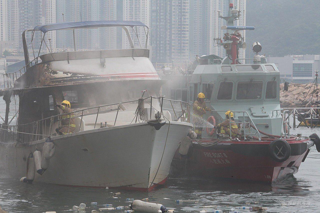 有限公司,起火原因,救护车,消防员,避风塘 香港筲箕湾又一18米游艇起火焚毁|游艇消防不可不查