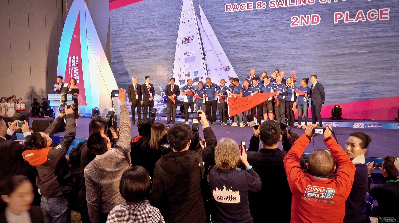 克利伯环球帆船赛青岛站颁奖仪式:胜出13分,三亚锁定第一!