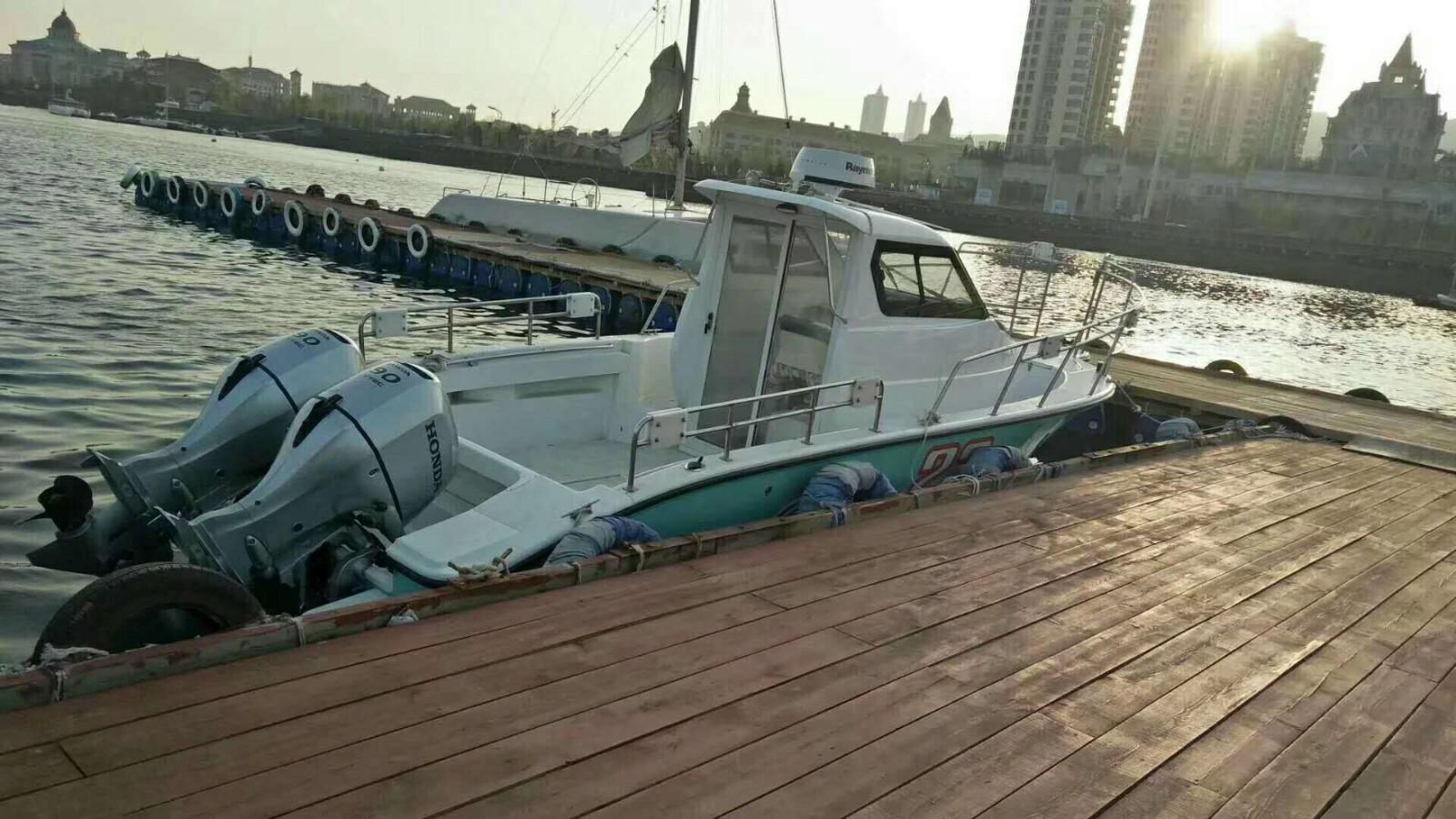 二手23尺游钓鱼艇