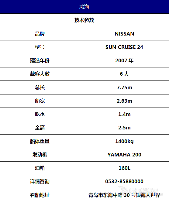 【二手船销售】日本原装进口小型休闲游艇现船随时看船400000