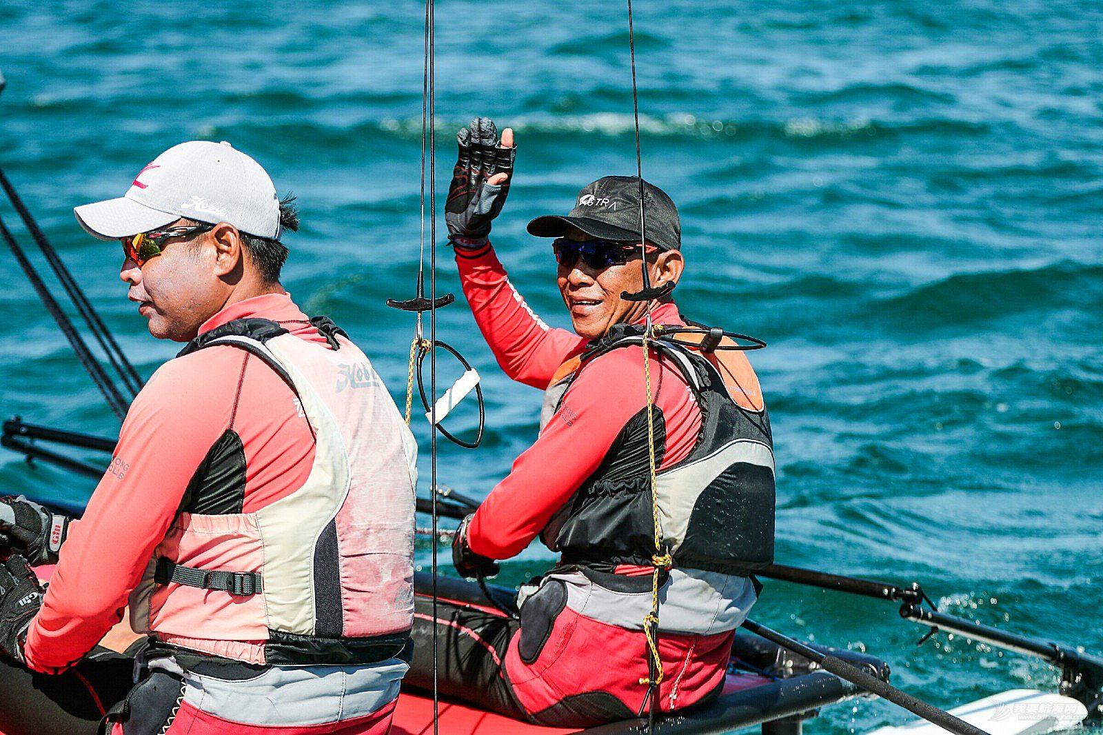 Hobie16级别帆船赛首次登陆大连金石滩   首日开赛选手激烈角逐