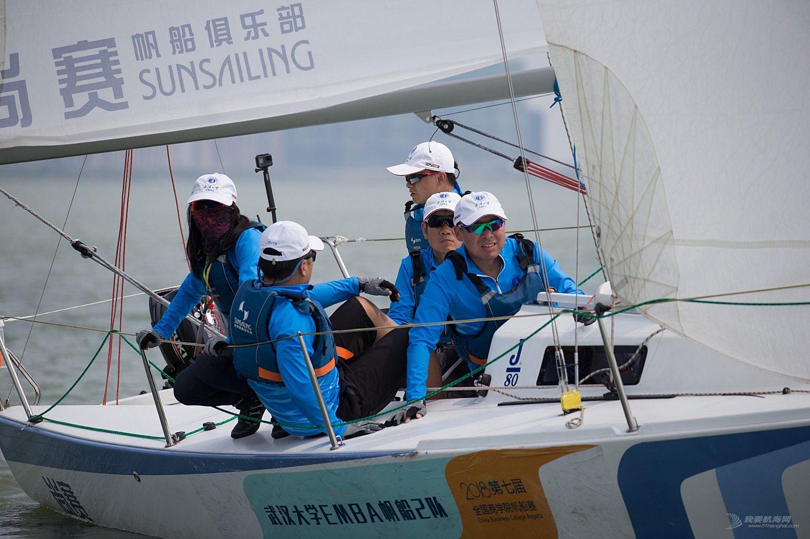 第七届全国商学院帆船赛首战打响,商学院群雄激战东太湖