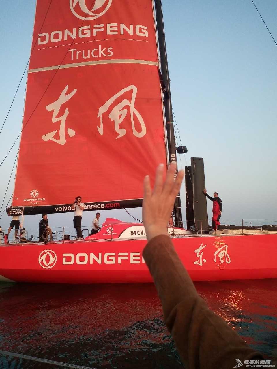 中国,环球,沃尔沃,东风,帆船 沃尔沃环球帆船赛东风队回家,第一个冲线!  103213tz2z9aloq2s3ci39