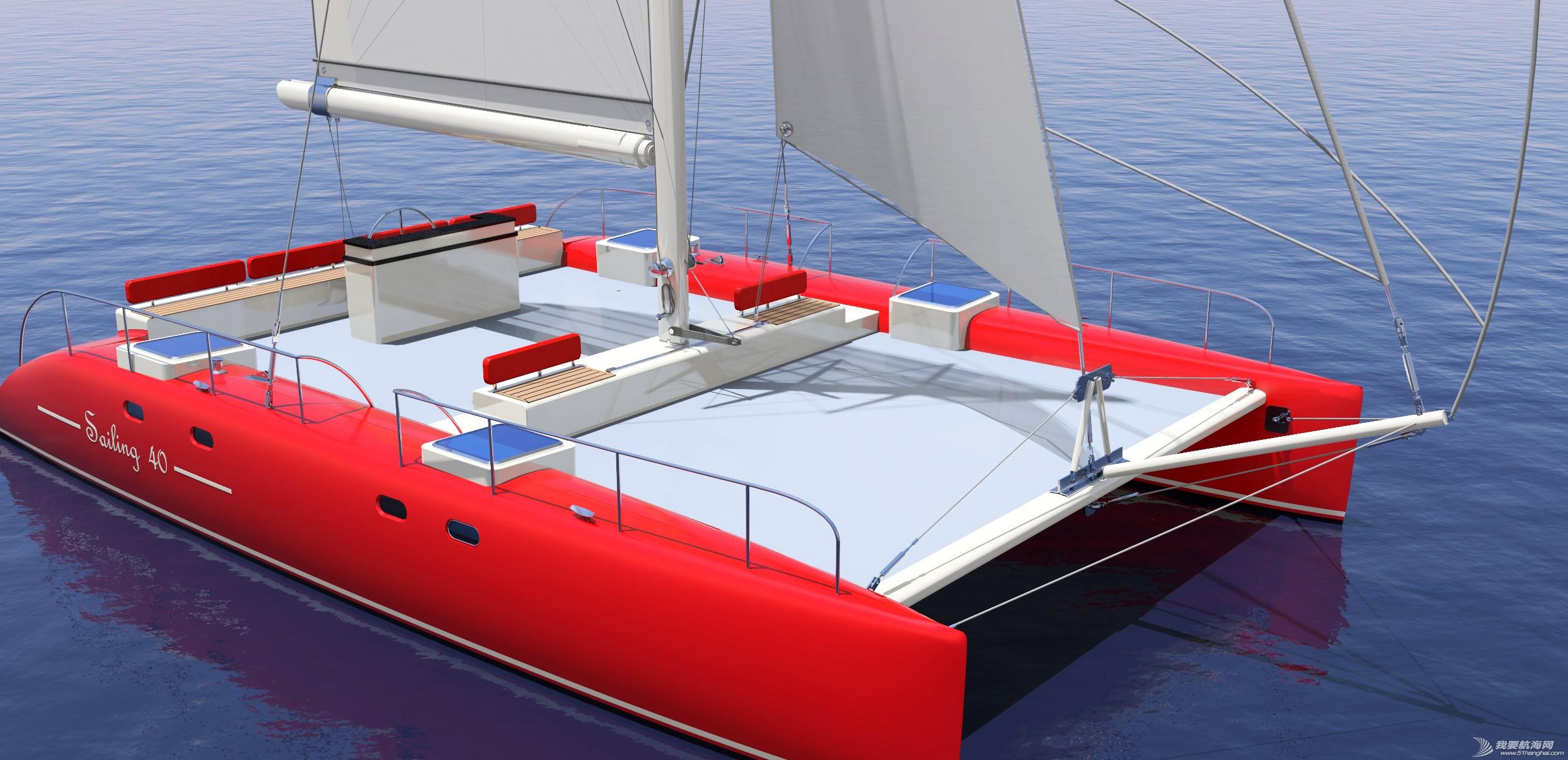 帆船,证书,休闲,英尺,比赛 40英尺双体帆船,比赛休闲两用,法定船检证书和试航证书 上部根据用户需要再设计 113426fopmsnvl91bnzo22