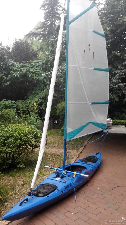 帆船,一只,自己,弄到,长衣 皮艇加帆冒充帆船diy  132100tzd4kanqmk13mipa