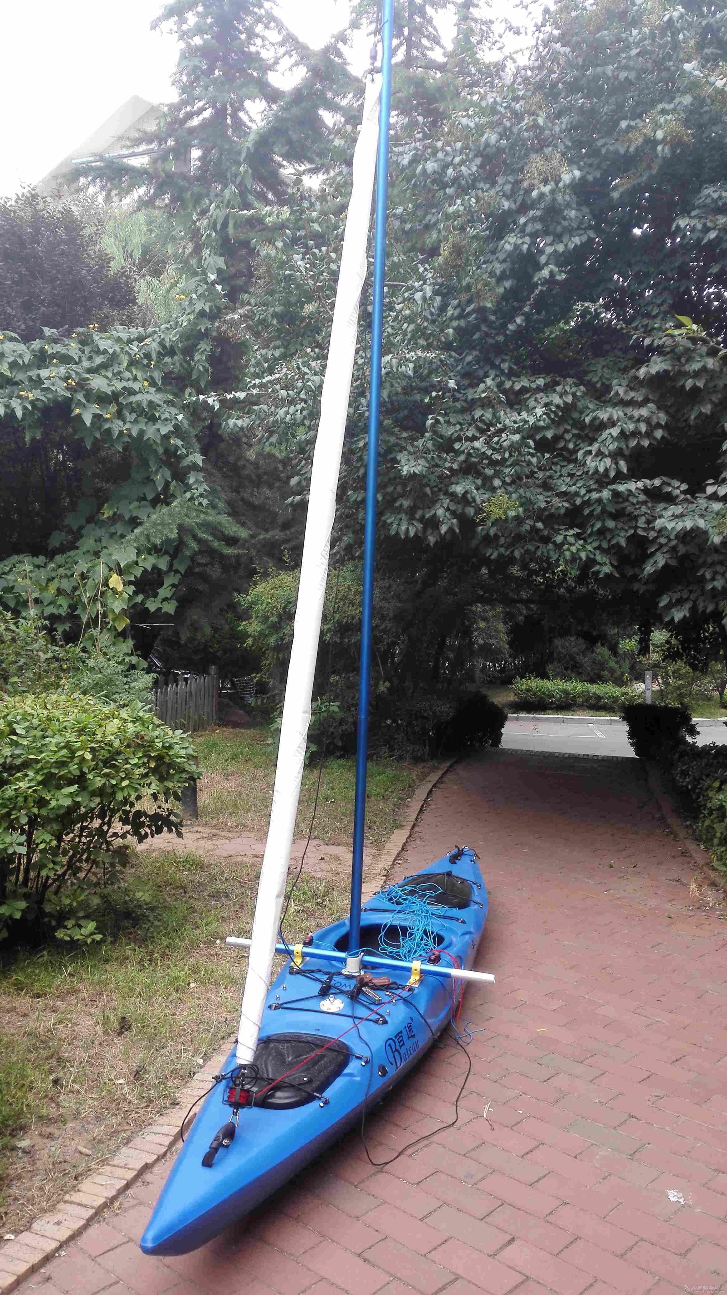 帆船,一只,自己,弄到,长衣 皮艇加帆冒充帆船diy  132103v1z99gxdpp9rm18x