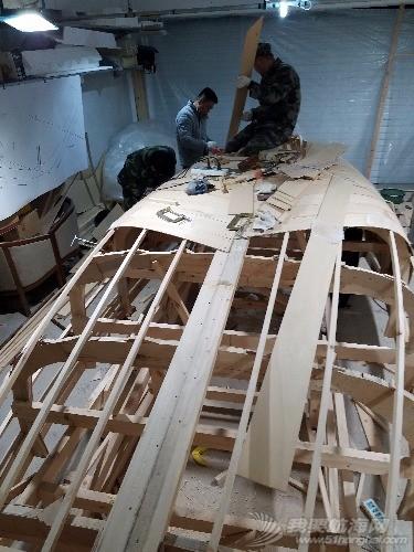 板条,船壳,螺钉,钉枪,固定 造19尺帆船之六  000507yk7wdcidps7psds4