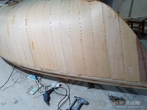 板条,船壳,螺钉,钉枪,固定 造19尺帆船之六  000527gfzvndd1p1qjizvp
