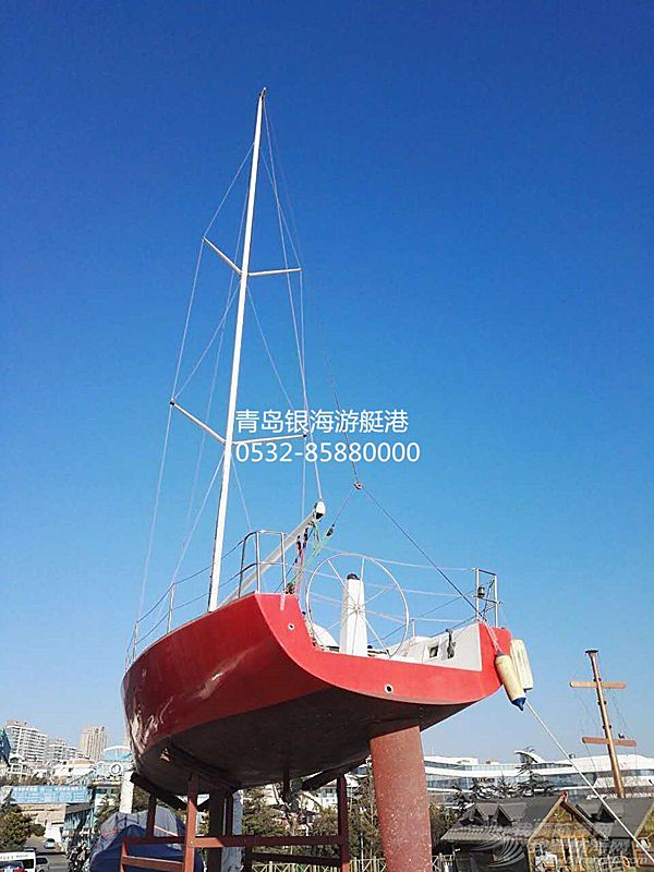 【二手船销售】青岛银海35英尺专业出口级豪华帆船清仓现船可看船