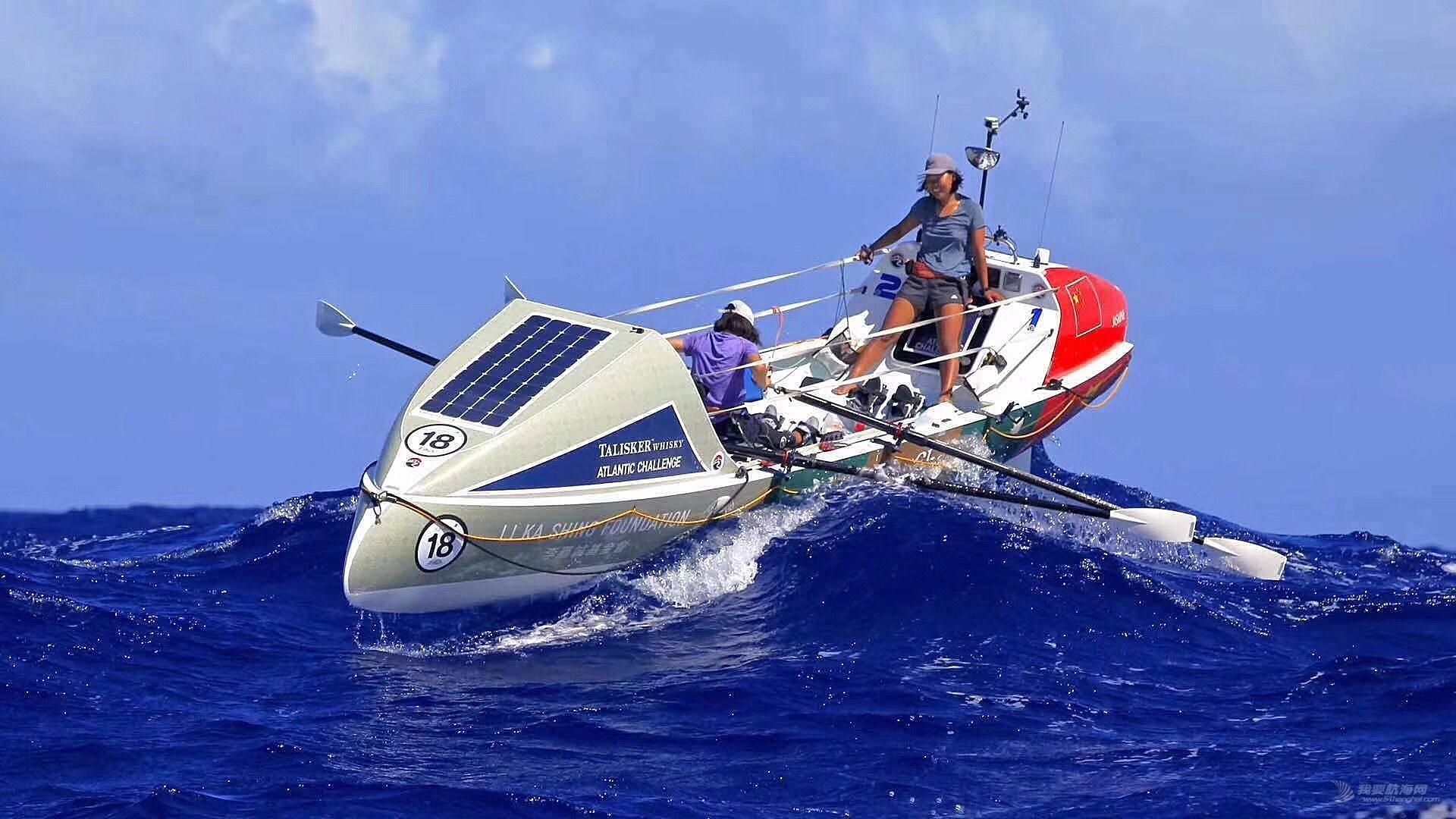 刚刚,汕大4名女生顺利登岸!34天划艇横渡大西洋创记录!
