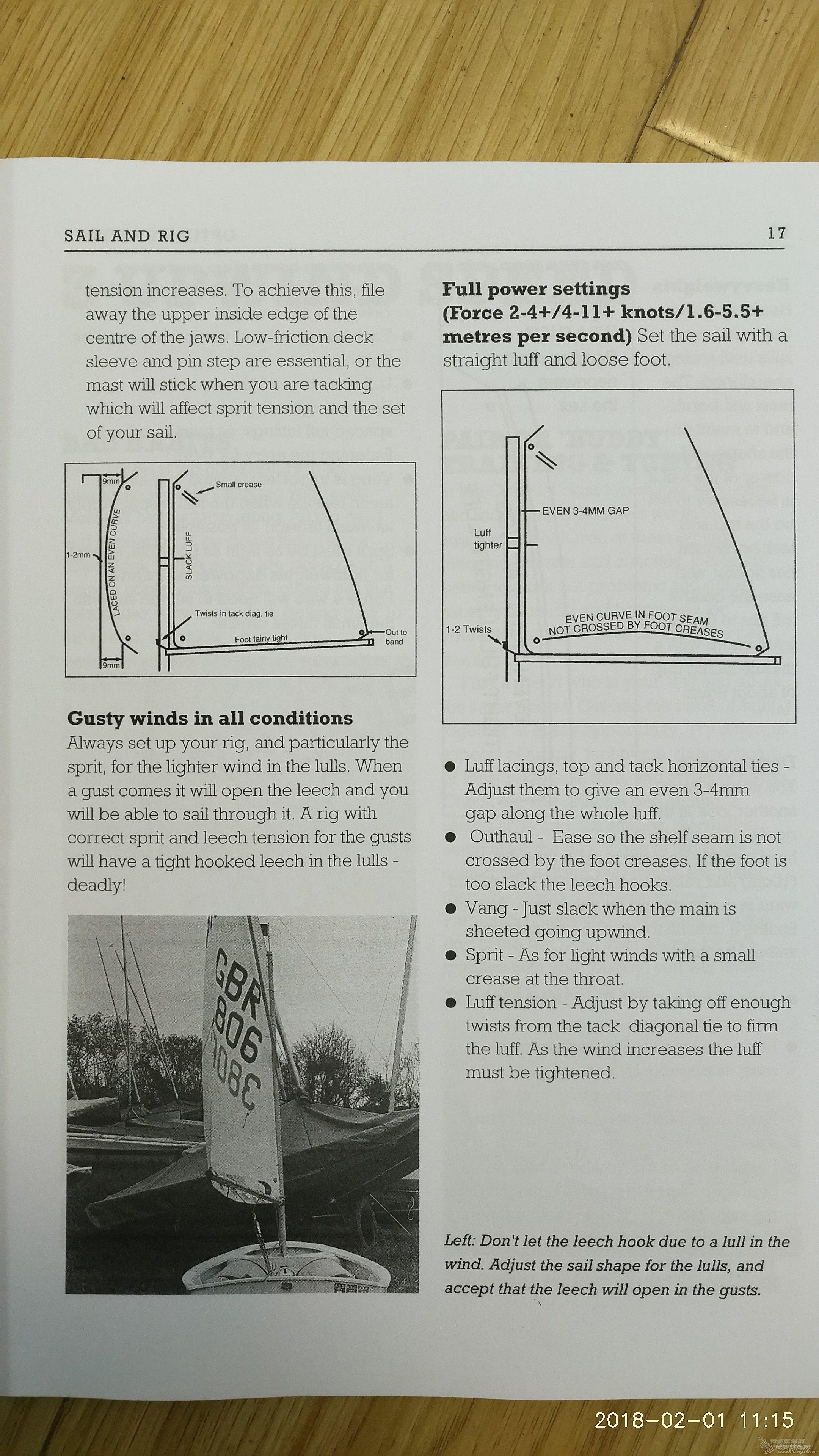 帆形,索具,调整,阵风 《乐观级帆船竞赛手册》---第一部分---2 帆与索具
