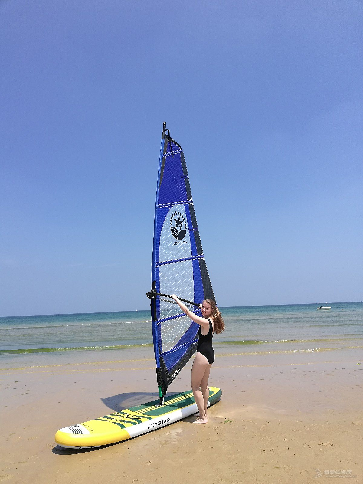 进口帆,充气帆板,大海,美女